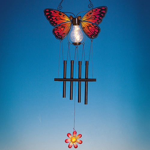 Solar Monarch Butterfly Chimes