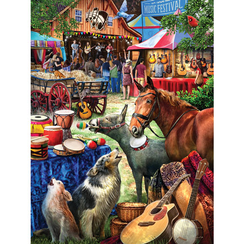 Music Festival 300 Large Piece Jigsaw Puzzle