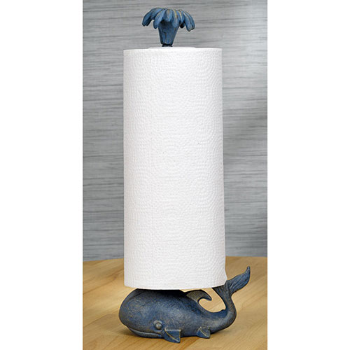 Cast Iron Whale Paper Roll Stand