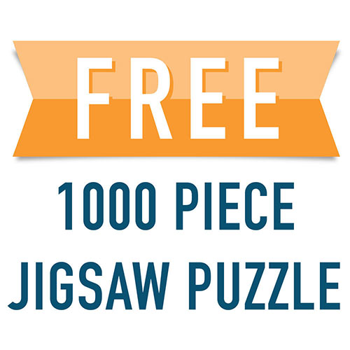 FREE 1000 Piece Jigsaw Puzzle