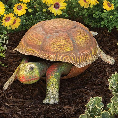 Bobbing Metal Turtle