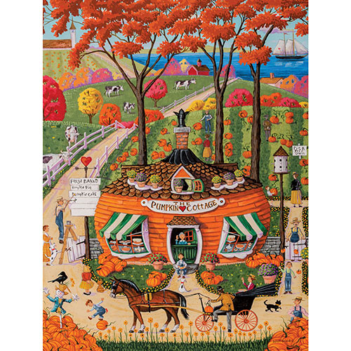 Pumpkin Cottage 1000 Piece Jigsaw Puzzle