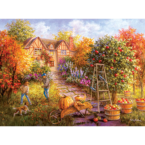 Gathering Fall 500 Piece Jigsaw Puzzle