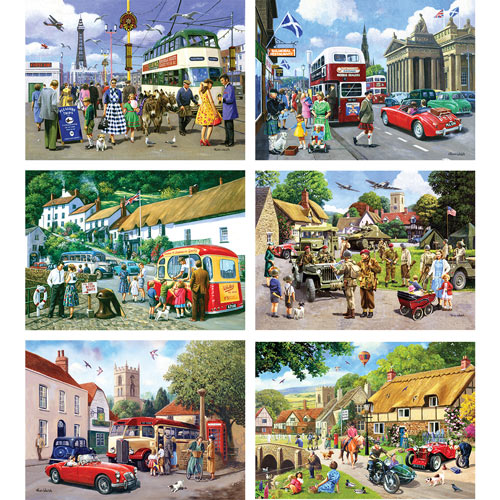 Set of 6: Kevin Walsh 1000 Piece Jigsaw Puzzles