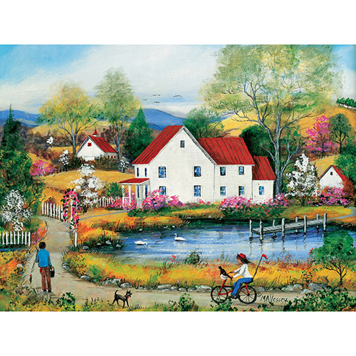 Chasing Big Brother 500 Piece Jigsaw Puzzle