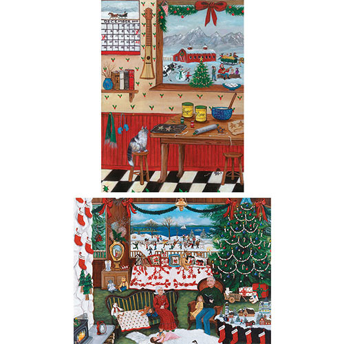 Set of 2: Cindy Mangutz 1000 Piece Jigsaw Puzzles