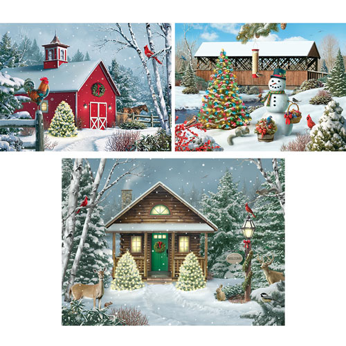 Set of 3: Prebox Alan Giana 300 Large Piece Jigsaw Puzzles