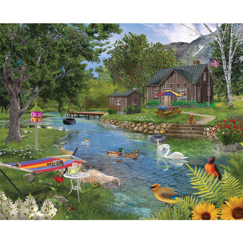 Summer Cabin 300 Large Piece Jigsaw Puzzle