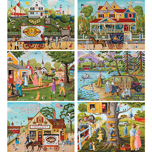Set of 6: Joseph Holodook 1000 Piece Jigsaw Puzzles