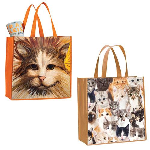 Set of 2: Cat Tote Bags