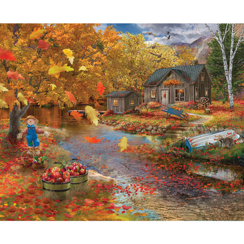 Autumn Cabin 500 Piece Jigsaw Puzzle