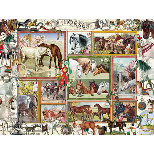 Horses Collage 1000 Piece Jigsaw Puzzle