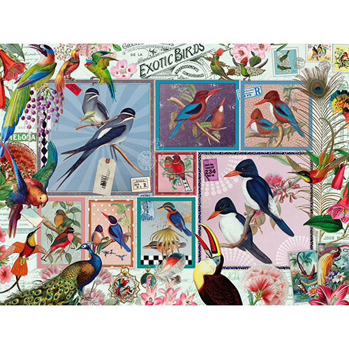 Grand Exotic Birds 1000 Piece Jigsaw Puzzle