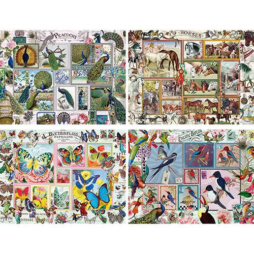 Set of 4: Barbara Behr 1000 Piece Jigsaw Puzzles