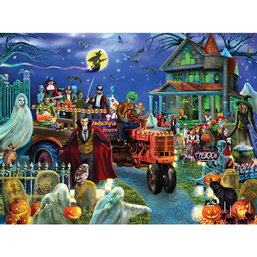 Haunted Hayride 500 Piece Jigsaw Puzzle
