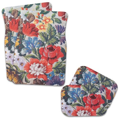 Floral Tapestry Car Mat Set
