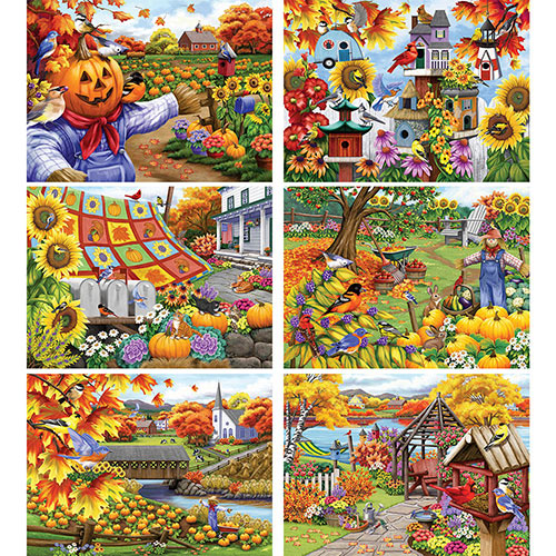 Set of 6: Nany Wernersbach 1000 Piece Jigsaw Puzzles
