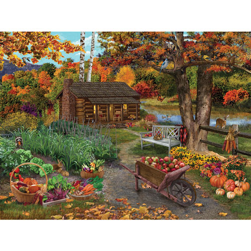 Harvest At The Cabin 1000 Piece Jigsaw Puzzle