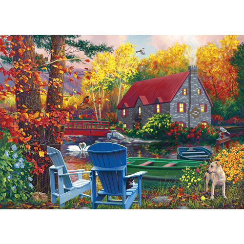 By The Lake In The Fall 1000 Piece Jigsaw Puzzle