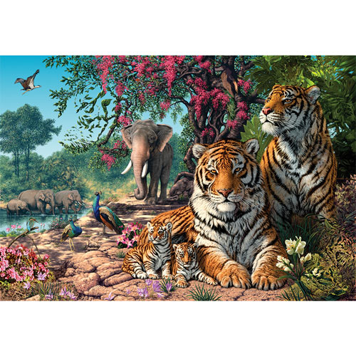 Tiger Sanctuary 500 Piece Jigsaw Puzzle