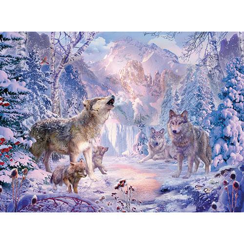 Snow Landscape Wolves 500 Piece Jigsaw Puzzle