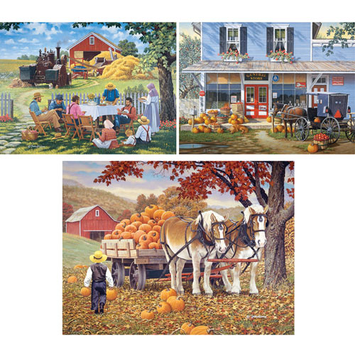 Set of 3: Pre-Boxed John Sloane 500 Piece Jigsaw Puzzles