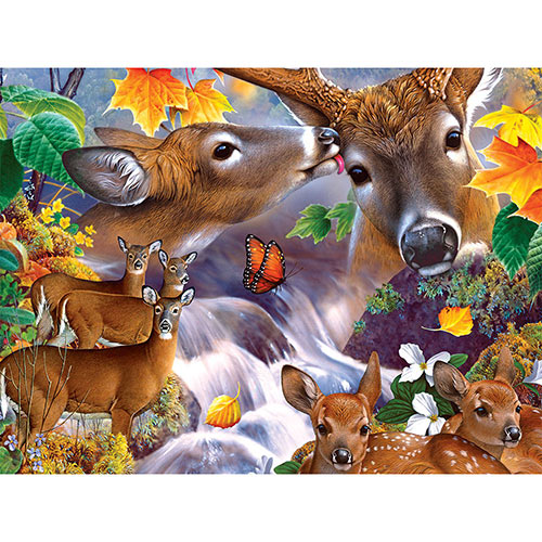 Deer Collage 500 Piece Jigsaw Puzzle