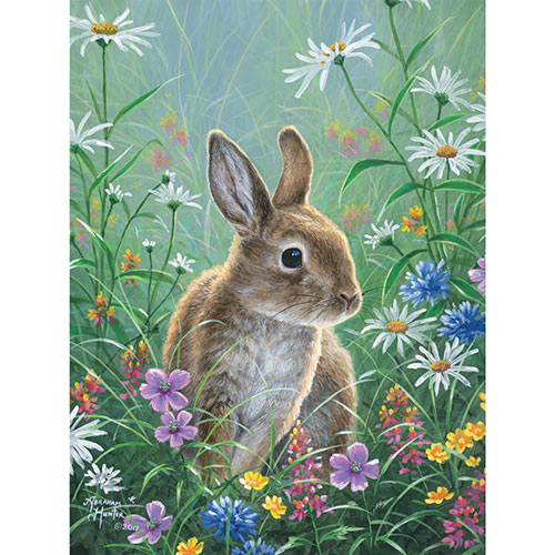Spring Bunny 300 Large Piece Jigsaw Puzzle