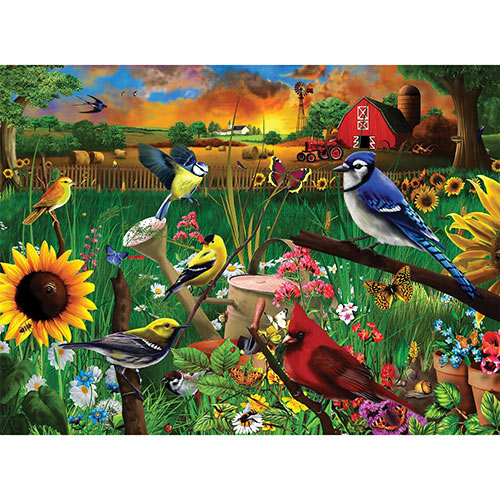 Sunflower Birds 1000 Piece Jigsaw Puzzle