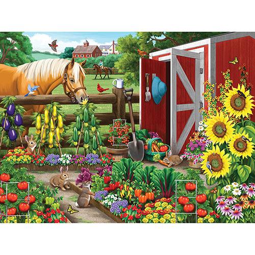 Veggie Garden Visitors 300 Large Piece Jigsaw Puzzle