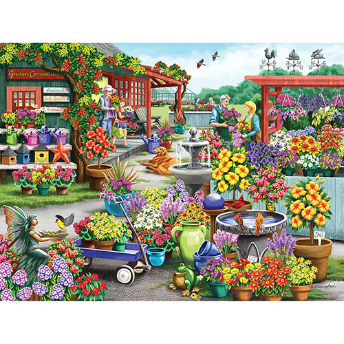 Shopping For The Garden 300 Large Piece Jigsaw Puzzle