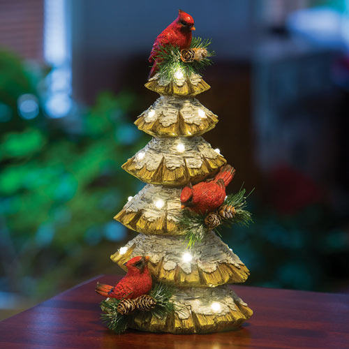 Christmas Tree With Cardinals