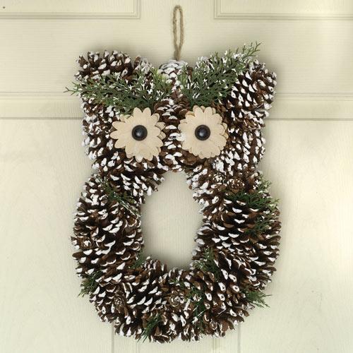 Snowy Owl Wreath