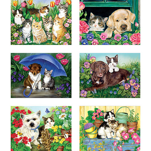 Set of 6: Jane Maday 300 Large Piece Jigsaw Puzzles