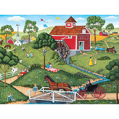Grand View Mill 300 Large Piece Jigsaw Puzzle