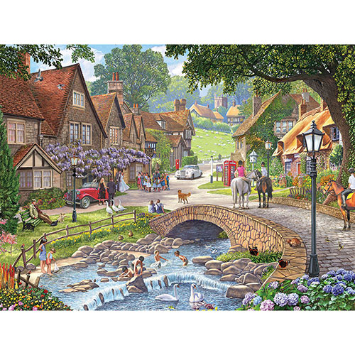 Summer Village Stream 300 Large Piece Jigsaw Puzzle