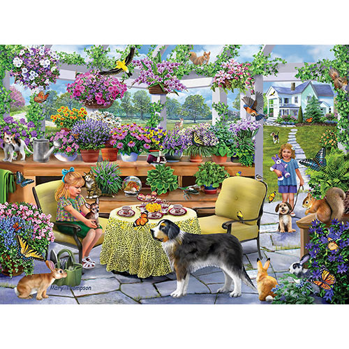 Greenhouse Tea Party 1000 Piece Jigsaw Puzzle