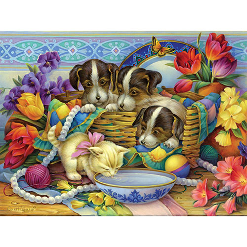 Precious Puppies And Kitten 300 Large Piece Jigsaw Puzzle