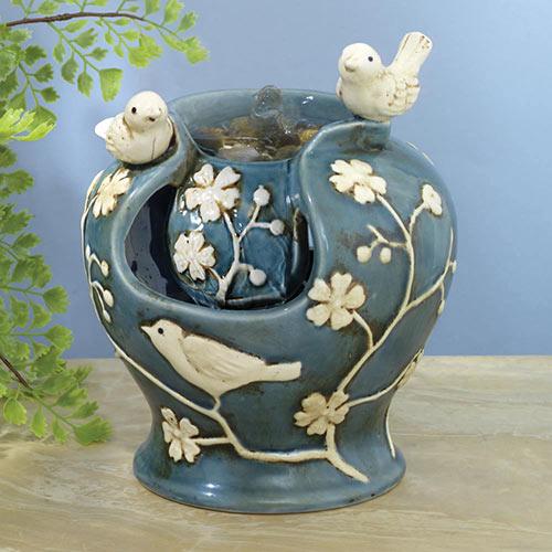 Ceramic Birds Fountain