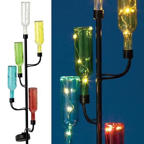 Solar Bottles LED Light Stake
