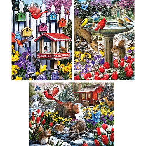Set of 3: Pre-Boxed Larry Jones 300 Large Piece Jigsaw Puzzles