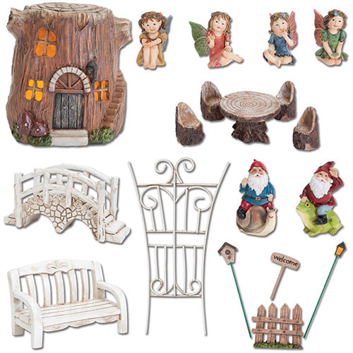 Set of 6: Woodland Fairy Village