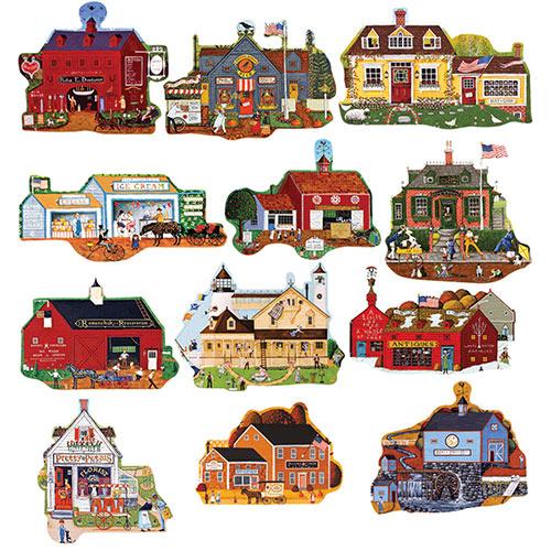 Main Street Mini 500 Piece Shaped Jigsaw Puzzles