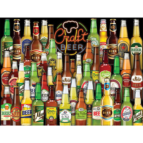 Craft Beer Collage 300 Large Piece Jigsaw Puzzle