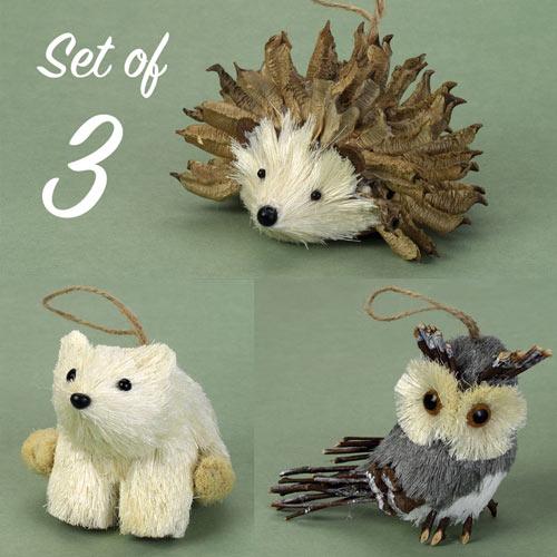 Buri Wildlife Ornaments