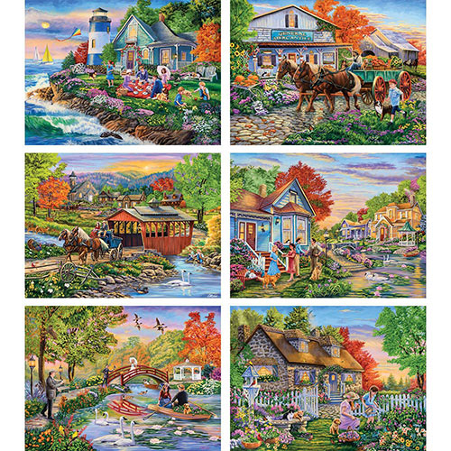 Set of 6: Cory Carlson 1000 Piece Jigsaw Puzzles