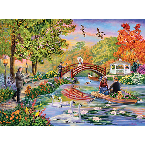Autumn on the Pond 1000 Piece Jigsaw Puzzle