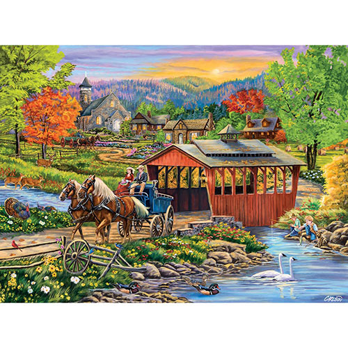 Twilight Bridge 1000 Piece Jigsaw Puzzle