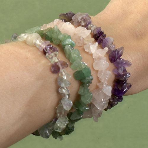 Set Of Four Gemstone Bracelets