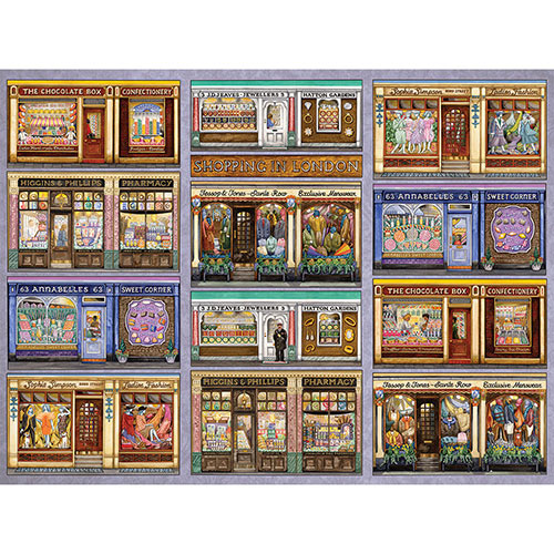 Shopping In London II 1000 Piece Jigsaw Puzzle